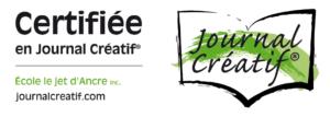 logo certifié en journal créatif