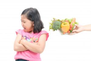enfant qui déteste les légumes
