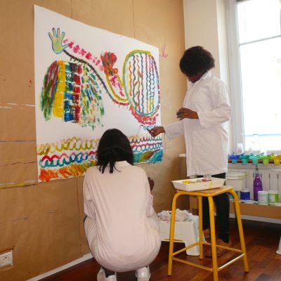 séance peinture