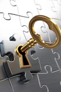 image symbolique de trouver la clé